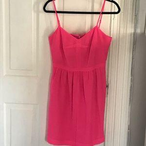 J.Crew Spaghetti strap dress- Neon Pink